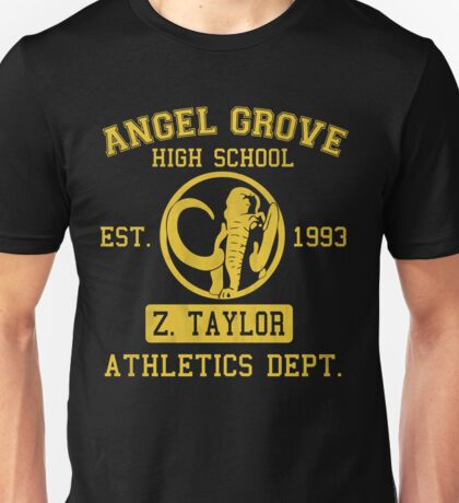 Angel Grove H.S. (Black Ranger Edition) Unisex T-Shirt