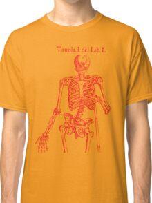 Red Skeleton Anatomical Classic T-Shirt