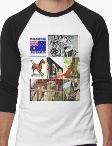Melbourne cup Men's Baseball ¾ T-Shirt