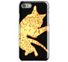Ol' Yeller Cat in Gold Hues iPhone Case/Skin