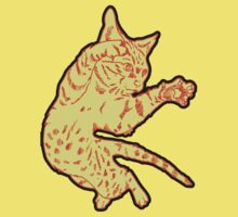 Ol' Yeller Cat in Gold Hues Kids Clothes