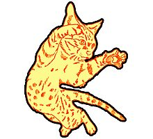 Ol' Yeller Cat in Gold Hues Photographic Print