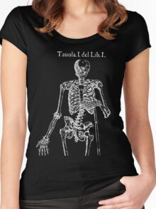 White Skeleton Anatomy Women's Fitted Scoop T-Shirt