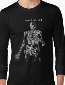 White Skeleton Anatomy Long Sleeve T-Shirt