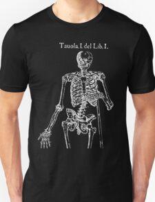 White Skeleton Anatomy Unisex T-Shirt