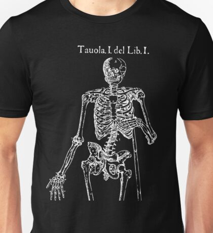 White Skeleton Anatomy Unisex T-Shirt