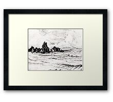 view from yachats Framed Print