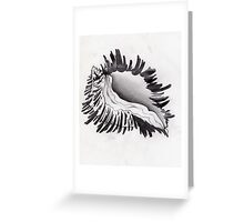 whelk shell, monochromatic seashell Greeting Card