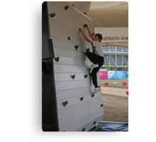 Rock climbing at the National Paralympic Day Canvas Print