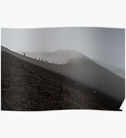 Walking on the edge of the crater Poster