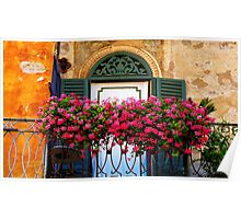 Verona Balcony Flowers, Italy Poster