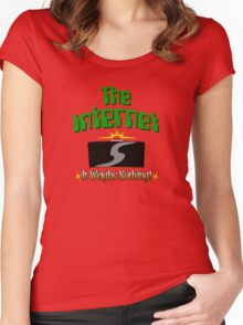 The Internet! Women's Fitted Scoop T-Shirt