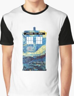 Van Gogh TARDIS Graphic T-Shirt