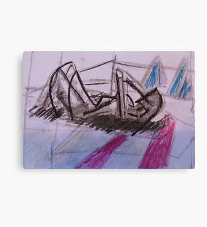Holiday drawing 2013 #2 Boyfriend sunbathing Canvas Print