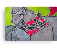 Holiday drawing 2013 #3 Boyfriend sunbathing Canvas Print