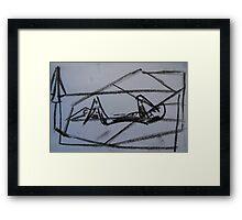 Holiday drawing 2013 #4 Boyfriend sunbathing Framed Print