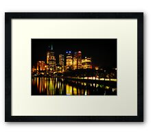 Reflections on Melbourne - Australia Framed Print