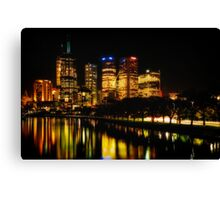 Reflections on Melbourne - Australia Canvas Print
