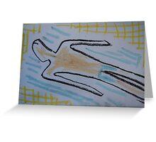 Holiday drawing 2013 #5 Boyfriend sunbathing Greeting Card