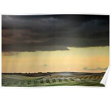 Storm over Therfield Poster