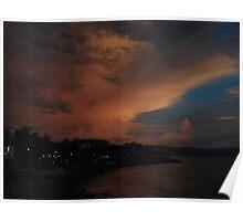 the dark side of a sunset III - el lado oscuro de una puesta del sol Poster