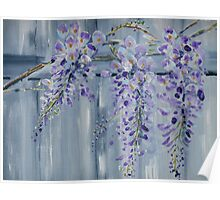 Wisteria on the Back Fence. Poster