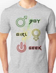 Boy, Girl and Geek T-Shirt T-Shirt