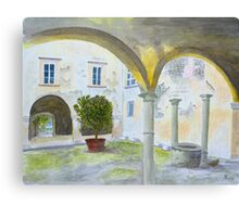 Bishop's Palace, Lucca by John Rees. Canvas Print