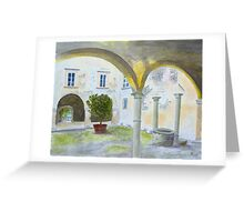 Bishop's Palace, Lucca by John Rees. Greeting Card