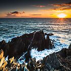 Sunset across the Jagged Rocks by Heidi Stewart