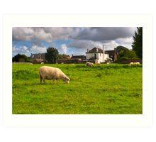 Idyllic Meadows - Avebury, English Countryside Art Print