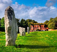 Avebury Village Today - Historic English Countryside by Mark Tisdale