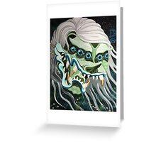 Devil Head Ghost Greeting Card
