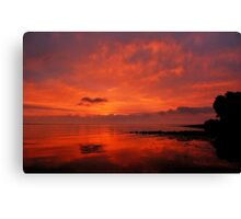 And another sunrise at the Baltic Sea Canvas Print
