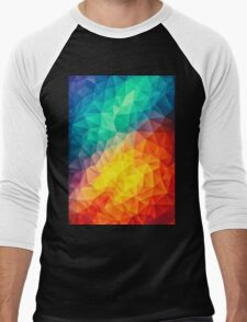geometry color triangle abstract Men's Baseball ¾ T-Shirt