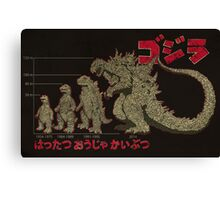 Evolution of King of Monsters Canvas Print