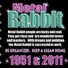 1951 2011 Chinese zodiac born in year of Metal Rabbit  by Valxart