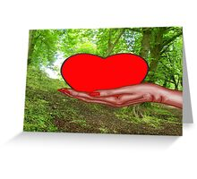 HEART OF NATURE Greeting Card