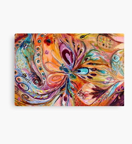 Original painting fragment 45 Canvas Print