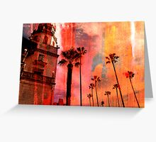 San Simeon, digital sunset Greeting Card