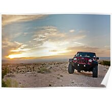 Jeep Sunset Poster