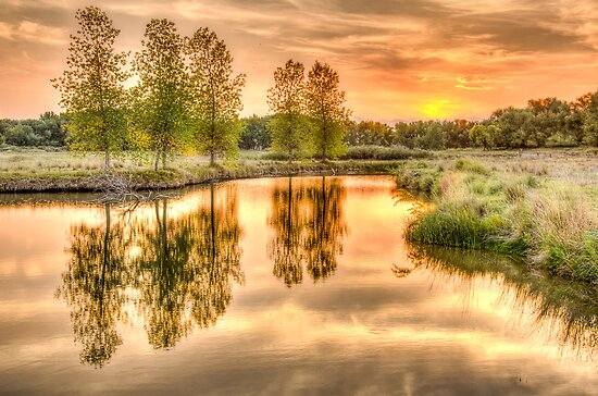 Sweet Summer Sleepy Water Sunset by Greg Summers