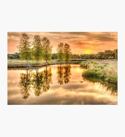 Sweet Summer Sleepy Water Sunset Photographic Print