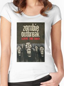 Zombie Apocalypse Women's Fitted Scoop T-Shirt