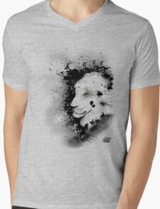Ink Lion Mens V-Neck T-Shirt