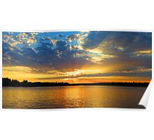 Sunset Lake of the Woods Ontario Poster