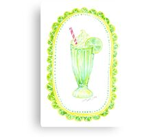 Lovely Lime Milkshake Canvas Print