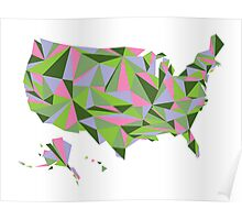 Abstract America Spring Bloom Poster