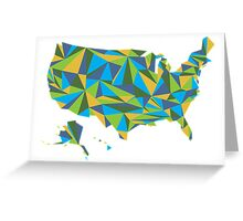 Abstract America Summer Nights Greeting Card