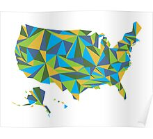 Abstract America Summer Nights Poster